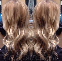 Blonde dimensional color melt