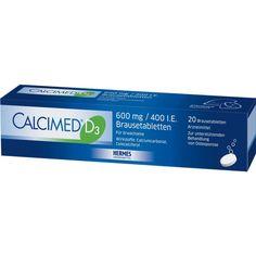 CALCIMED D3 600 mg-400 I.E. Brausetabletten:   Packungsinhalt: 20 St Brausetabletten PZN: 09750116 Hersteller: HERMES Arzneimittel GmbH…