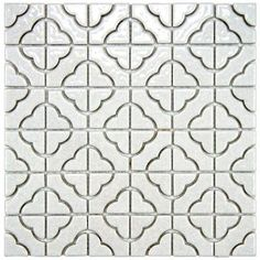 Merola Tile Palace White 11-3/4 in. x 11-3/4 in. Porcelain Mosaic Floor and Wall Tile
