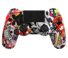 Sticker Bomb Custom PS4 Controller