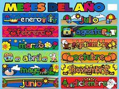 Meses del año en ingles y español - Imagui
