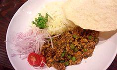"""Kheema mataru curry  (""""Cafe orchestra"""" in Tokyo)"""