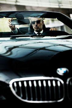 ♂ black car man masculine elegance