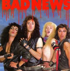 """""""Cashing in on Christmas"""". From the Bad News self-titled album. Vinyl Record Store, Vinyl Records For Sale, Rock & Pop, Rock And Roll, English Comedy, Jennifer Saunders, Dawn French, Worst Album Covers, Bad Album"""