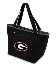 This tote makes it easy to take game day grub on the go while sporting school spirit. A zipper keeps snacks contained, while durable handles ensure this piece will be used for many sports seasons to come.