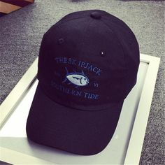 THE SK IPJACK SOUTHERN TIDE fish embroidered baseball caps curved brim hat  visor bent outdoor golf 95d5074873d
