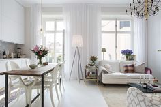Stor REA på gardiner just nu – Veckans inredningsfynd Living Room Modern, Home Living Room, Living Spaces, Chaise Ghost, Small Rooms, Small Spaces, Small Apartments, Home Interior, Interior Design