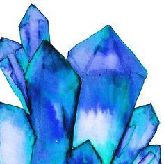 Crystal clusters #art #artist #boho #bodymindspirit #design #watercolor #painting #gypsy #bohemian #soulfulart #soulful #crystalart #creative #create #calledtocreate #spiritual #lightworker #happiness #draw #soul #soulful #freelance #freespirit #illustration #illustrator #illustratorartist #crystalillustration #bluecrystal