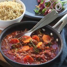 En mustig köttgryta med grönsaker är perfekt till när det börjar bli lite kallt ute! #höst #recept