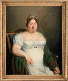 A portrait of the comtesse de Provence, wife of Louis XVIII, attributed to Marie-Eleonore Godefroid. This portrait, done sometime during the French royal family's exile and before her death in was long thought to be lost. Jane Austen, French Royalty, Regency Dress, Regency Era, Lady In Waiting, French History, 19th Century Fashion, Curvy Dress, Empire Style