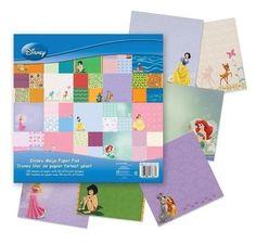 Stack Disney Princess Azul Mega Paper Pad