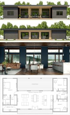 Tiny House Plans 727120302320563898 - Architecture House Plan, Home Plans, Casa Pequena, Planta de Casa Source by fouillaretfrederic Container House Design, Tiny House Design, Modern House Design, Simple Home Design, Simple House, Dream House Plans, Small House Plans, Dog Trot House Plans, One Floor House Plans
