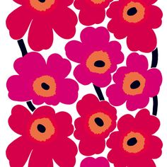 Marimekko Wallpaper Unikko red