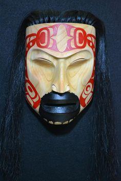 Carved by John Wilson Native Indian, Native Art, Native American Masks, John Wilson, Inuit Art, Tlingit, Masks Art, Indigenous Art, Aboriginal Art