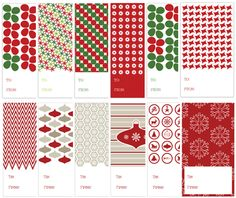 Lots of Christmas printables free:  gift tags, subway art, frameable prints, and a Santa letter outline!  Nice quality and very cute!