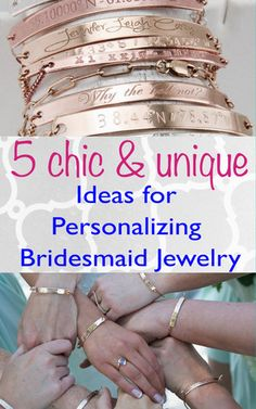 5 Chic & Unique Ideas for Personalizing Your Bridesmaids' Jewelry - the modern BAZAAR