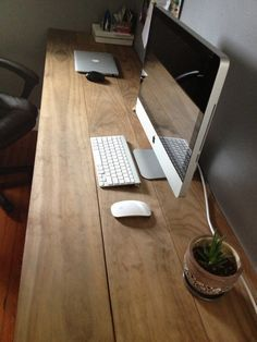 Industrial Wood and Pipe Office Desk by JenFromal on Etsy, $350.00