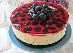 Cytrynowy śmietankowiec Polish Recipes, Polish Food, Sweets Cake, Afternoon Tea, Cheesecake, Food And Drink, Drinks, Bakken, Drinking