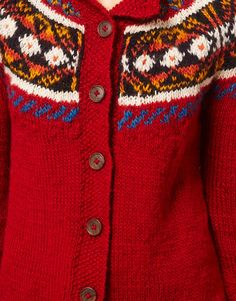 People Tree Wool Fairisle Cardigan
