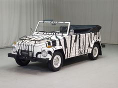 "1973s zebra Volkswagen Type 181 (curiosity: this car is known in Italy as ""Pescaccia"", a word combining pesca+caccia, that is fishing+hunting)"