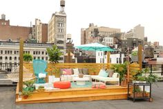 An amazing rooftop oasis.