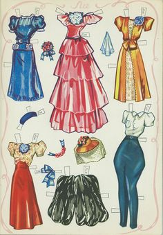 A beautiful paper doll set by the artist Gladys Rourke Blackwood. This original book is by Saalfield, dated 19...