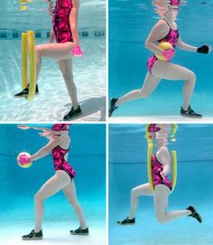 Lose Fat - 8 Pool Exercises That Burn Fat Fast - Do this simple 2 minute ritual to lose 1 pound of belly fat every 72 hours Water Aerobic Exercises, Swimming Pool Exercises, Pool Workout, Water Workouts, Pool Noodle Exercises, Workout Fitness, Lady Fitness, Health Fitness, Health Exercise