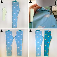 Calça legging infantil tutorial img 1 Baby Pants Pattern, Baby Dress Patterns, Baby Clothes Patterns, Sewing Patterns For Kids, Sewing For Kids, Baby Sewing, Sewing Pants, Sewing Clothes, Diy Clothes