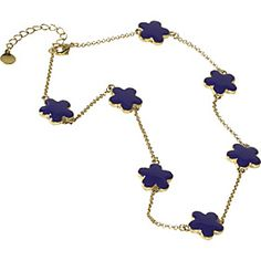 "KEP Designs 16"" Enamel Flower Necklace"
