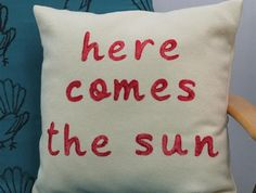 Here Comes the Sun Wool Cushion
