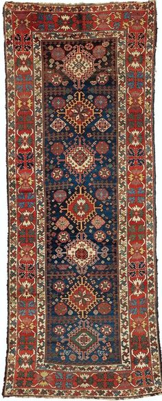 Persian Luri runner, late 19th c (strongly influenced by caucasian weaving)