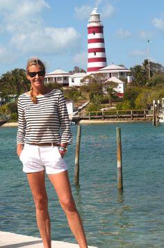 The historic Hopetown lighthouse and stripes. Bahamas lifestyle Ambassador #Indiahicksstyle