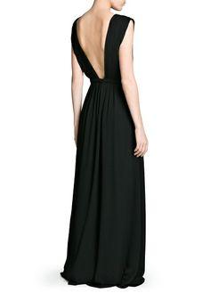 Wrap neckline gown