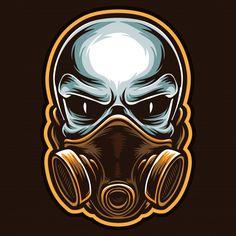 Gas Mask Art, Masks Art, Airbrush Art, Skull Illustration, Graphic Design Illustration, Dibujos Sugar Skull, Mask Drawing, Caribbean Art, Graffiti Characters