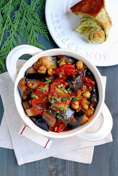 If you like caponata or moussaka, you will enjoy this Lebanese eggplant stew, flavored with pomegranate molasses and allspice.