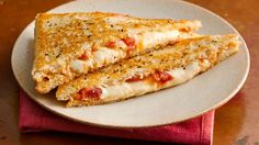 Ooey, gooey, double grilled cheese -make sandwiches quickly with pizza dough!