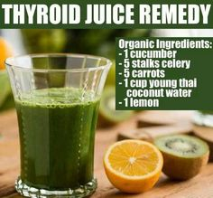 Thyroid Juice Remedy For all of you who wants a healthy functioning thyroid, here's the juice recipe that can help you get that!