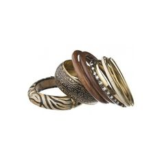 African Bangle Stack (74 RON) ❤ liked on Polyvore featuring jewelry, bracelets, accessories, bangles, rings, african jewellery, bangle bracelet, bracelets bangle, african jewelry and hinged bangle