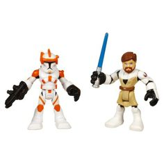 Star Wars Jedi Force Playskool Heroes Obi-Wan Kenobi and Commander Cody Pack
