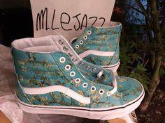 1bc526426ee New Vans x Van Gogh Museum Sk8-Hi Shoes Almond Blossom Lace Up