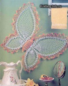 SANDRA CROCHE: Borboleta de Croche