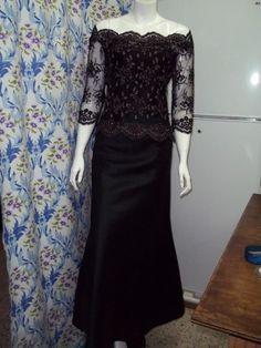 robe noir long avec dentelle