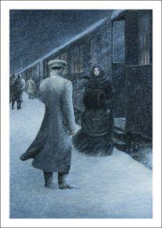 Angela Barrett : Illustration for Anna Karenina