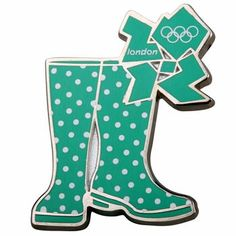 London 2012 Olympic Games Wellington green Boots pin badge  Product code: 30050711  £7.00