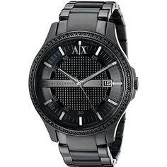 422daf6be270d Armani Exchange Men s AX2173 Hampton Analog Display Analog Quartz Black  Watch Armani Exchange Mens Watch,