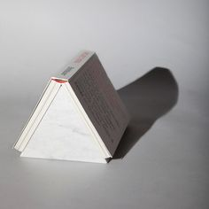 An avid reader, ÉCAL/ MAS-Luxe 2012 student Krzysztof J. Lukasik created a series of solid stone bookmarks to save the pages for later.
