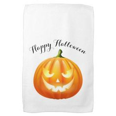 Halloween Kitchen Towel-Pumpkin Kitchen Towel - home gifts ideas decor special unique custom individual customized individualized
