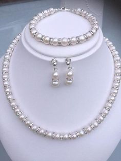 Coloured Pearl /& Sparkly Diamante Necklace for her Ladies Girls Wedding Bride E9
