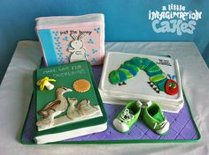 Pat the bunny, Make way for ducklings nad The Hungry Hungry Caterpillar books cake | Flickr - Photo Sharing!