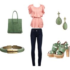 Pretty in Pink.. & Mint Green :), created by coraberon on Polyvore